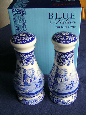 Spode Italian Blue New and Boxed Salt and Pepper