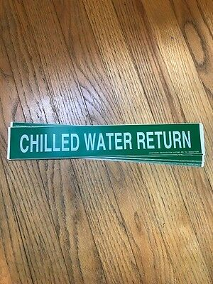 """""""Chilled Water Return"""" pipe labels"""