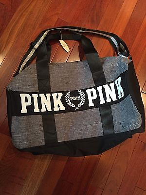 Victoria Secret Love PINK Duffle Bag- Heather Gray- NWT- FAST SHIPPING!