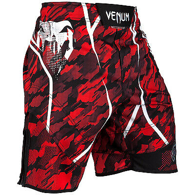 Fightshorts Venum Tecmo - Red/White MMA BJJ Fitness Boxing Training Grappling