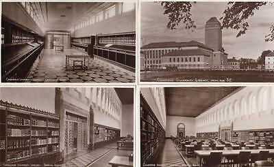 6 Cambridge University Library unused RP old Postcards Good condition