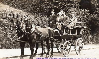 Cawdle's Coaching Excursions Torquay Coach & Horses unused  RP old pc F J Border