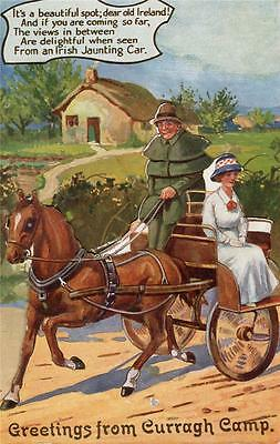 Curragh Co Kildare Military Camp Novelty Pull Out Irish Jaunting car pc used