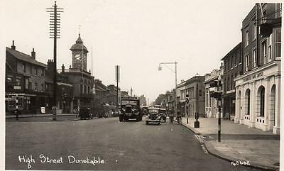 High Street Dunstable Lorry John Shaw Nr Luton unused RP old pc Bell BP Co