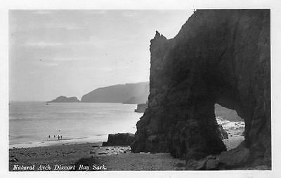 Natural Arch Dixcart Bay Sark unused RP old pc