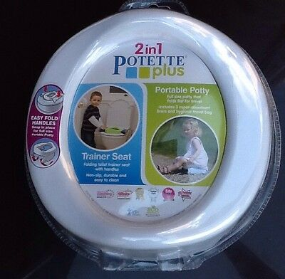 2 In 1 Potette Plus Trainer Seat & Portable Potty With Hygienic Bag
