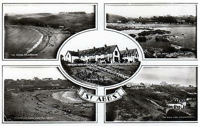St Abbs Multi View Nr Coldingham sepia RP old pc used 1950 ?