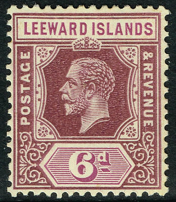 SG 86 LEEWARD ISLANDS 1932 - 6d DULL & BRIGHT PURPLE - MOUNTED MINT