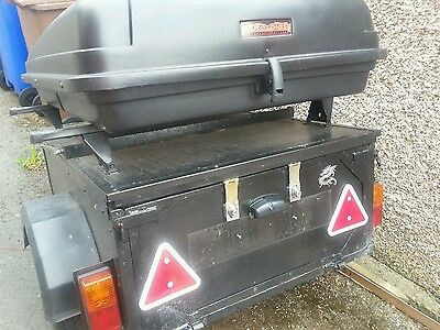Car camping top box trailer with onboard electric