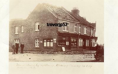 House Shop struck by Lightning Woking 1907 unused RP pc