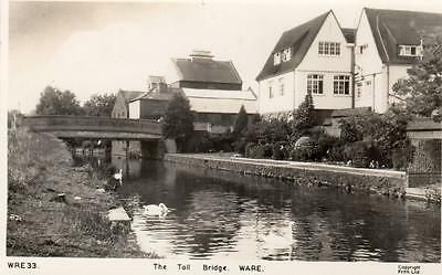 The Toll Bridge Ware Canal unused RP old pc Frith