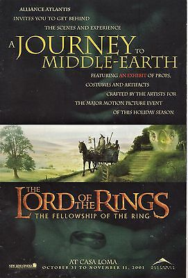 LORD OF THE RINGS A Journey To Middle-Earth - EXHIBIT at CASA LOMA Toronto -2001