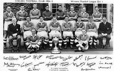 Chelsea Football Club F C 1954-5 Winners Div 1 unused official RP old pc