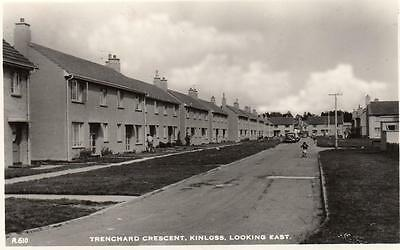 Trenchard Crescent Kinloss looking east Nr Forres unused RP old pc J B White
