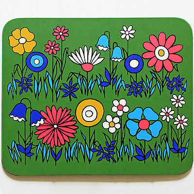 Vintage Clover Leaf Melamine Table Place Mats - Stunning 60s 70s Flowers Design