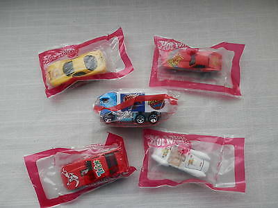 5 Hot Wheels Cereal Cars - Trix, Cheerios, Toast Crunch, Charms, Cocoa - New