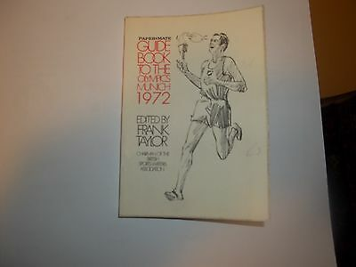 1972 guide book to the Munich Olympics