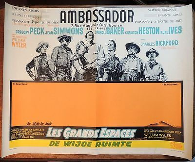 "Affiche ancienne ""Ambassador"" de William Wyler et Gregory Peck, Bruxelles 1958"