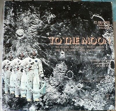 TIME LIFE To The Moon LP Record Book Box Set History of the Moon Landing Apollo