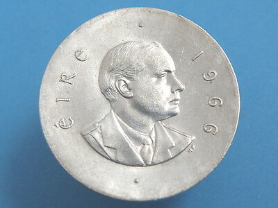 Ireland - 1966  'easter Rising / Patrick Pearse' Silver Ten Shilling Coin