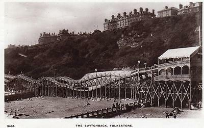 The Switchback fairground  Folkestone RP pc used 1915 WHS Kingsway