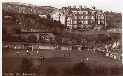 Queenswood Ladies College School Eastbourne unused RP old pc F A Bourne