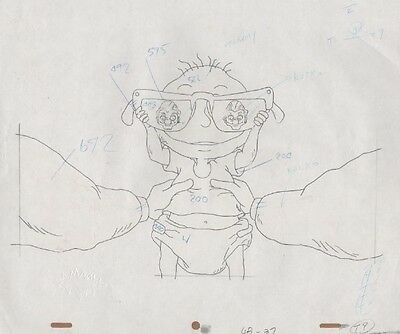 RUGRATS Original Production Cel Drawing Nicktoons COA Animation Pickles Tommy