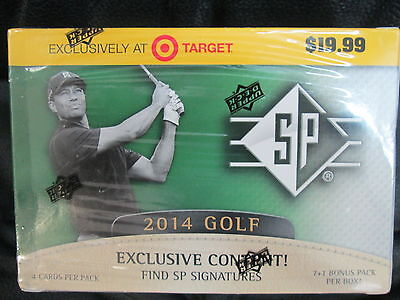 2014 Upper Deck Sp Golf Blaster Sealed Box