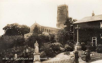 War Memorial St Mary's Church Woodbridge unused RP old pc Dennis