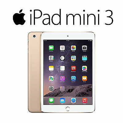 "Tablet 7.9"" Apple Ipad Mini 3 A1599 16 GB Wifi Dorado Usado 