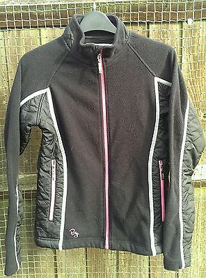 Ping Ladies / Junior / Girls Black Golf Fleece and Quilted Golf Jacket - Size 6
