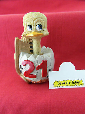 Rare 21st Birthday Eggbert--EG134--Boxed and New --Complete with Tent Card