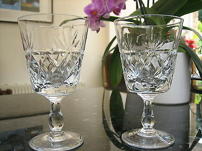 """Royal Brierley Bruce Wine Glasses 4 7/8"""" x 2 Signed Ex.con Free P&P"""