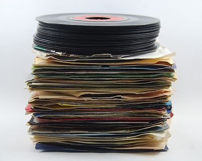 45 rpm LOT --- 100 COUNTRY & WESTERN vinyl RECORDS 50s 60s 70s jukebox