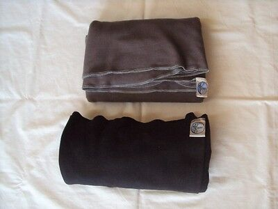 2 Moby Wrap Baby Carrier - Black and Gray