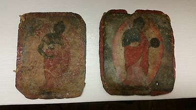 2 Piece Mongolian Buddhist Religious Paintings--Small Size