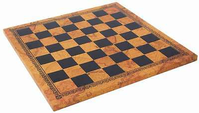 LEATHERETTE CHESSBOARD with 50mm SQUARES - (Use MPN DROPBOX for Colour Choice)