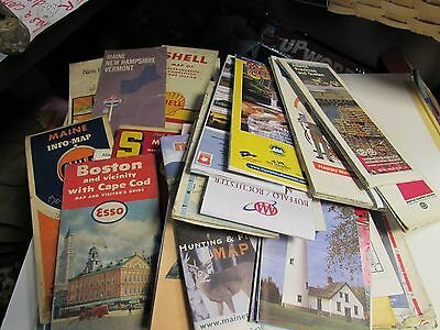 Vintage Road Map Lot 200 Road Maps ESSO SHELL GULF AAA AND OTHERS