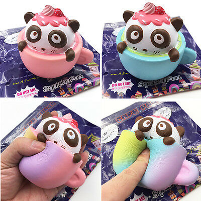 Squishyfun Cafe Panda Squishy 9.5cm Slow Rising Original Packaging