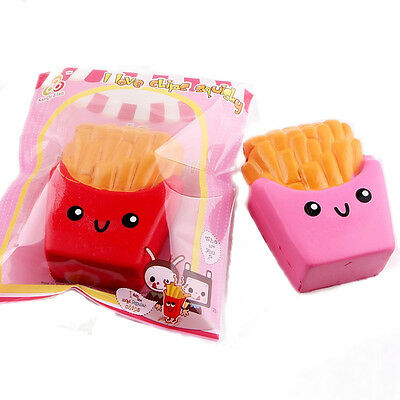 SanQi Elan Squishy French Fries Chips Slow Rising With Packaging