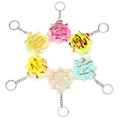 Squishy Waffle 5.5cm Soft Slow Rising Key Chain Phone Bag Strap Decor Collection