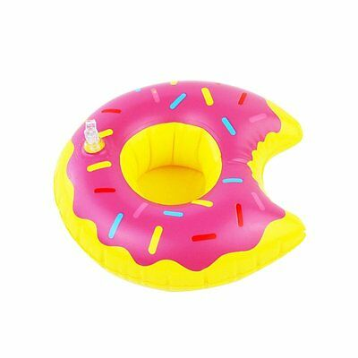 Doughnut Floating Inflatable Drink Can Holder Swimming Pot Party Funny Toy