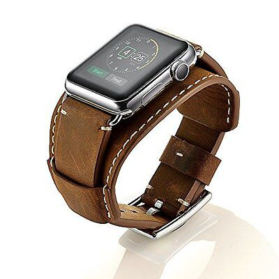 Watch Band For Apple Watch Genuine Leather iWatch Vintage Retro Strap 42mm