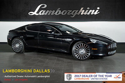 2012 Aston Martin Rapide Base Sedan 4-Door CARBON BLACK EDITION+NAV+WOOD TRIM+DIAMOND WHLS+BANG AND OLUFSEN