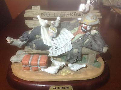"Emmett Kelly Jr ""No Loitering"" (Hand Signed in person) Limeted Edition Figurine"