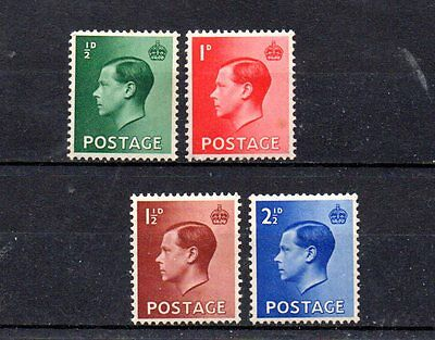 complete set of 4 mint EVIII GB stamps