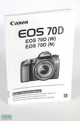 Canon 70D (W) (N) Basic Instructions
