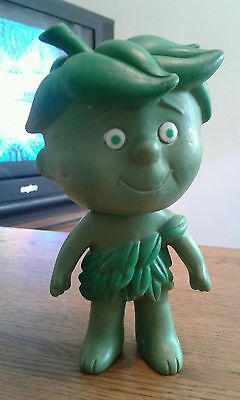 Green Giant Little Sprout Jolly Little Advertising Doll Vinyl Toy Vintage 1970s