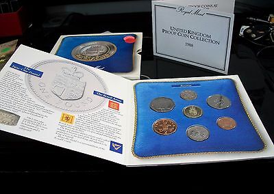 1988 Great Britain Uncirculated Coin Set With Coa