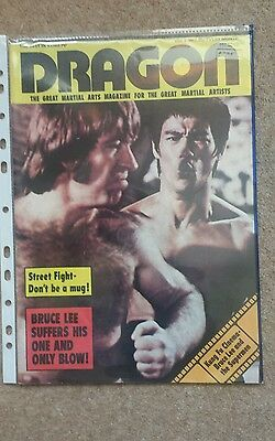 Bruce lee and chuck norris.way of the  dragon  70's mag.  last one. buy now .